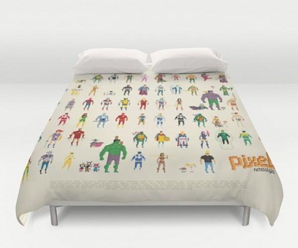 8-Bit Superhero Bedding: Sweet Pixel Dreams
