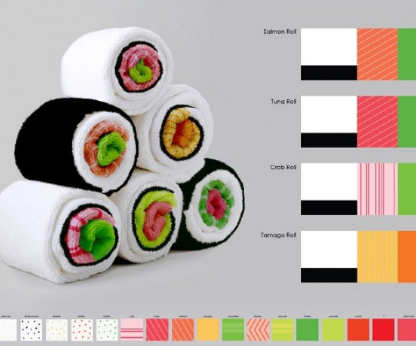 Kitchen Towels Look Like Sushi Rolls