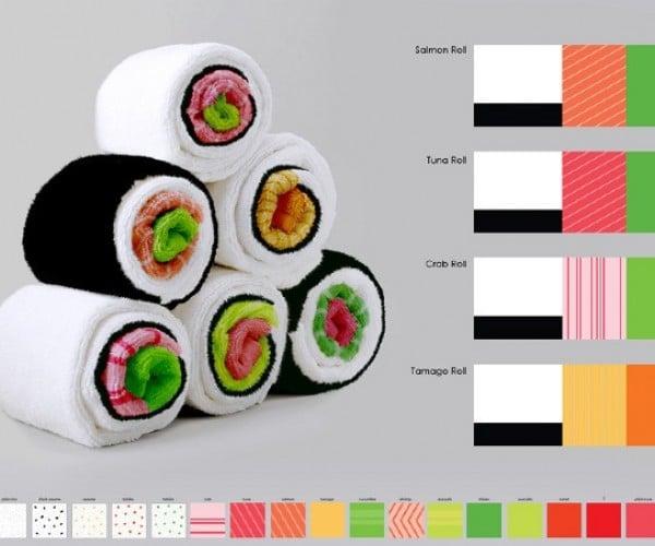 Kitchen Towels Look Like Sushi Rolls