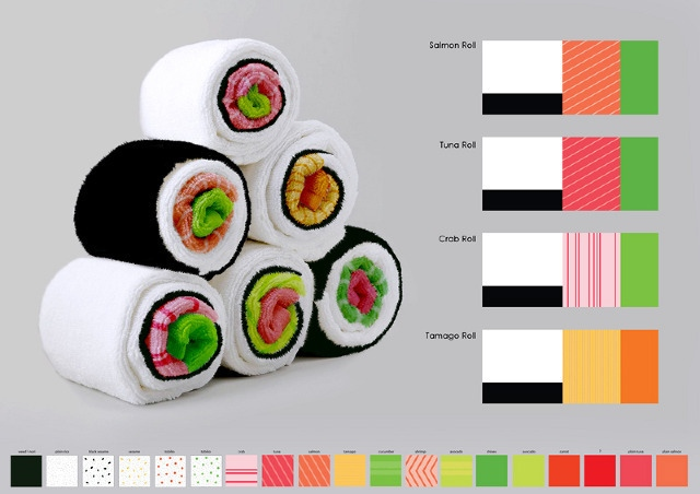 These Kitchen Towels That Look Like Sushi When Rolled Up Would Be A Cute  Addition To Your Decor. They Are The Creation Of Jenny Pokryvailo, The  Designer Who ...