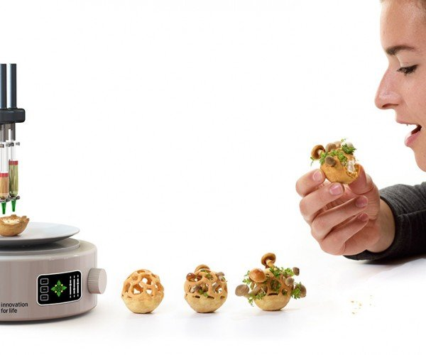 3D Printed Snack Concept Grows Plants & Mushrooms: Delayed Gratification