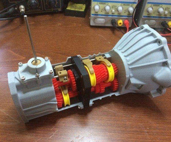 3D Printed Manual Transmission Actually Shifts