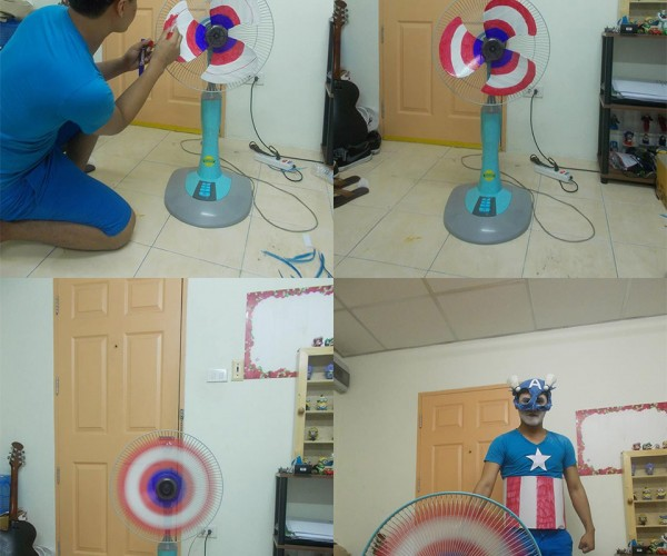 Make Your Own Captain America Shield Fan