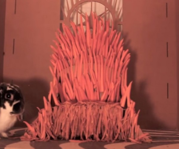 Iron Throne Made from Carrots