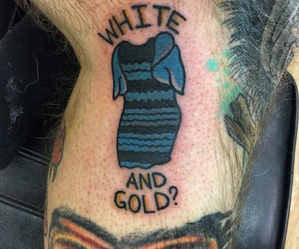 "This Guy Got a Tattoo of ""The Dress\"""