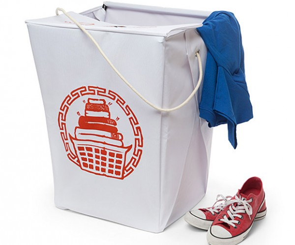 Chinese Takeout Laundry Hamper Holds Your Moo Goo Gai Panties