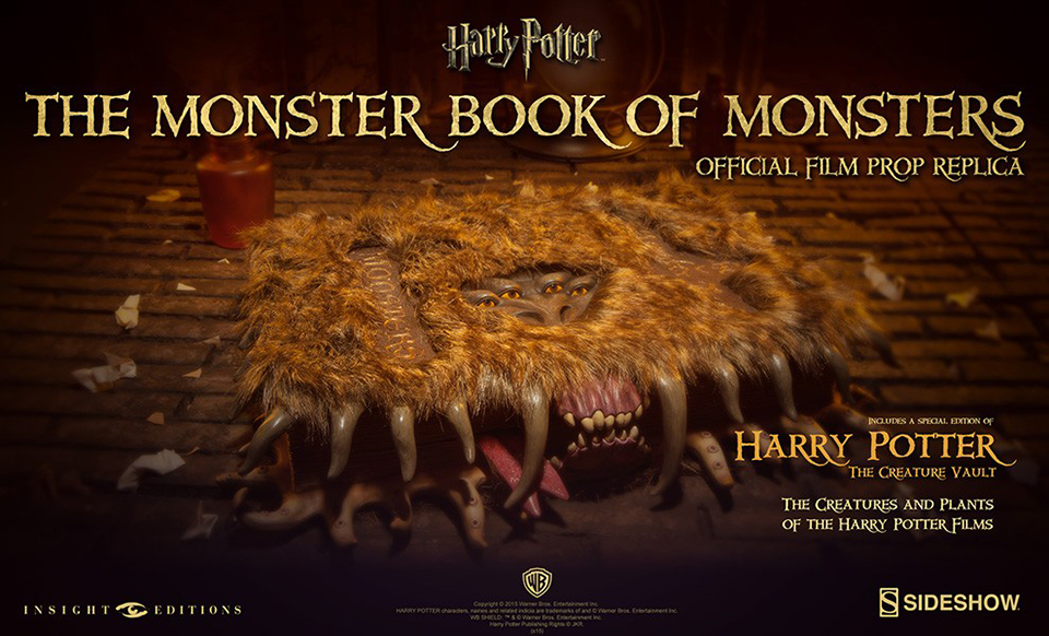 Harry Potter Book Monster : Harry potter monster book of monsters replica expensivo