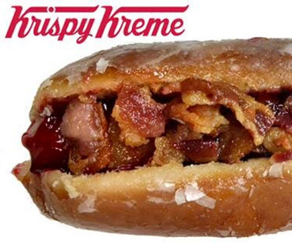 Krispy Kreme Bacon Hot Dog Donut: I CAN HAZ?!