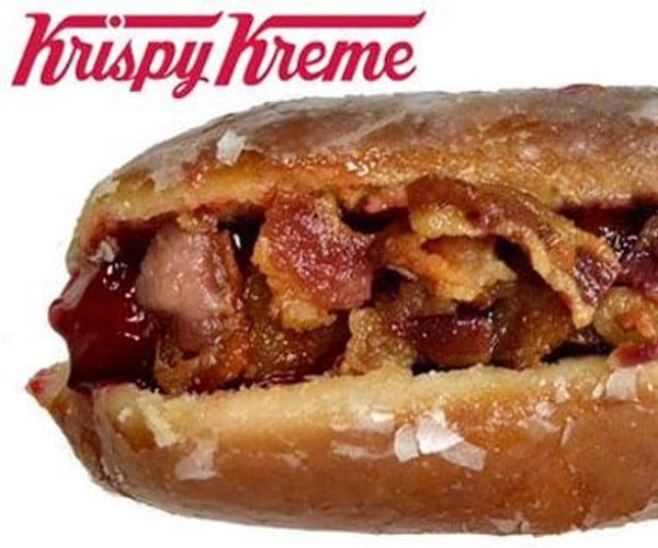 Krispy Kreme Bacon Hot Dog Donut: I CAN HAZ?!