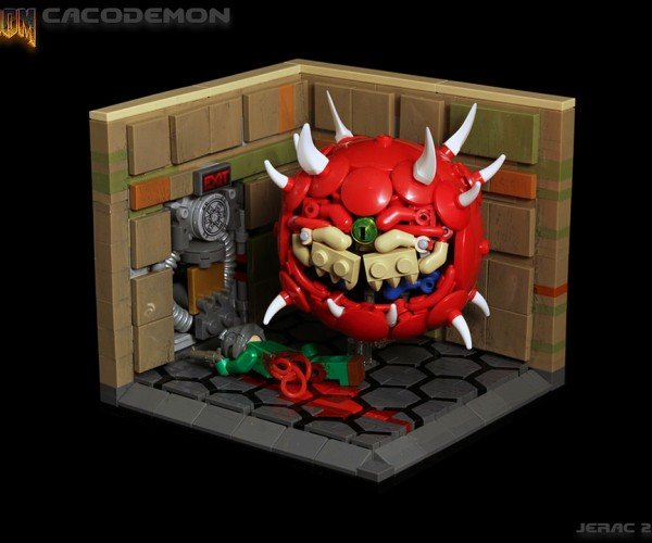 LEGO Doom Cacodemon: Brick Lightning