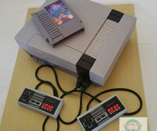 NES Wedding Cake: Nuptial Edible System