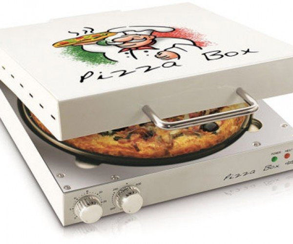 Pizza Box Oven Cooks Frozen Pie and Reheats Leftovers