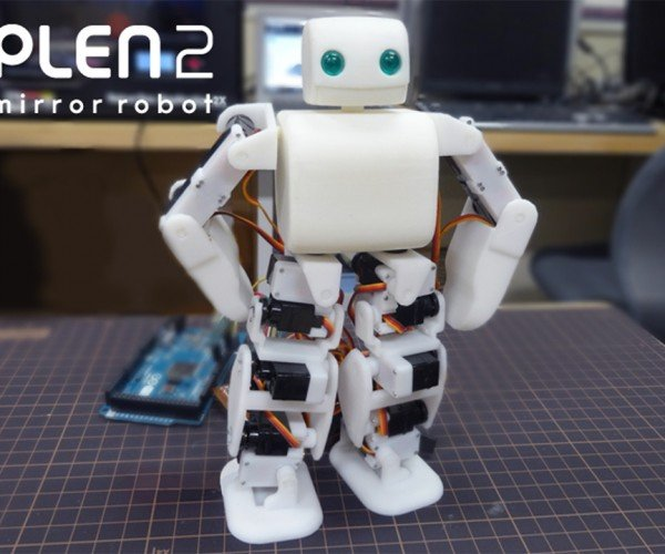 Plen2 Robot Has Open Source Software and 3D Printed Parts: Options Aplen2