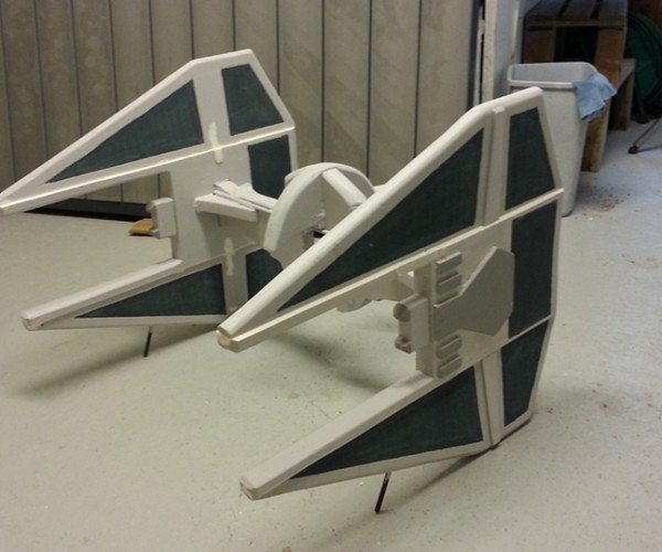DIY R/C TIE Interceptor: Quad Fighter