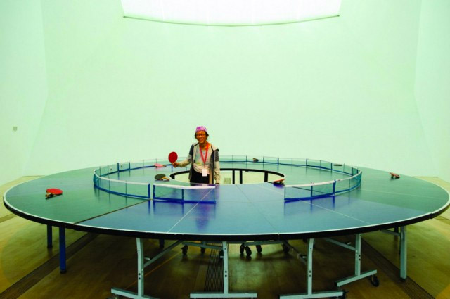 Round Ping Pong Table Ping Pong 360 Technabob