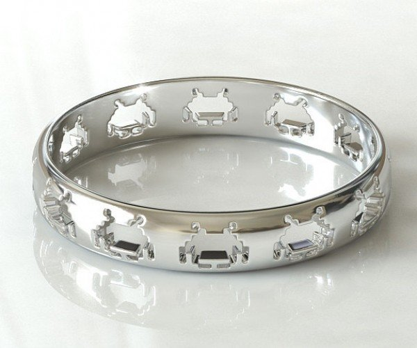 Space Invaders Ring: Sterling Silver, Not Pew Pew Pewter