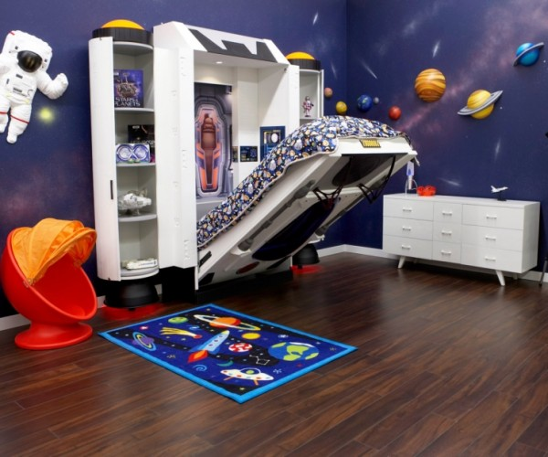 Kid's Spaceship Bed Looks Stellar