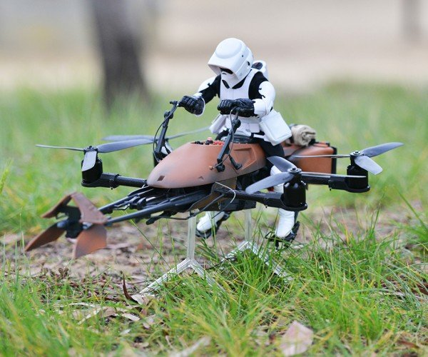 DIY Star Wars Speeder Bike Quadcopter: The Merch Side of the Force