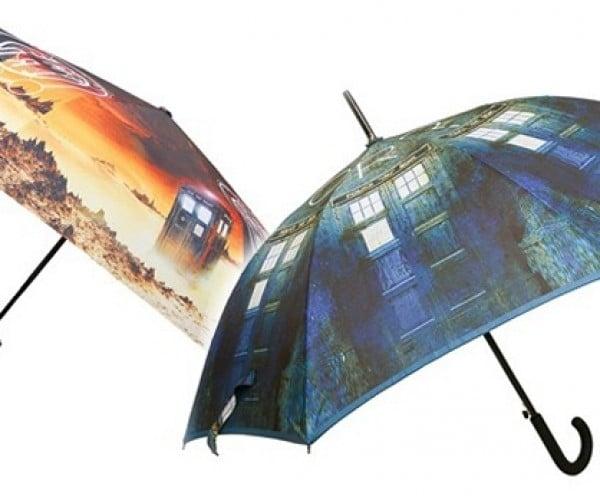 Doctor Who TARDIS Umbrellas: Whovian in the Rain