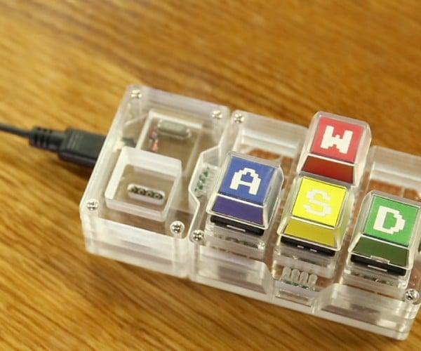 Trickey Mini Keyboard Has Swappable Keys: Any Key, Anywhere