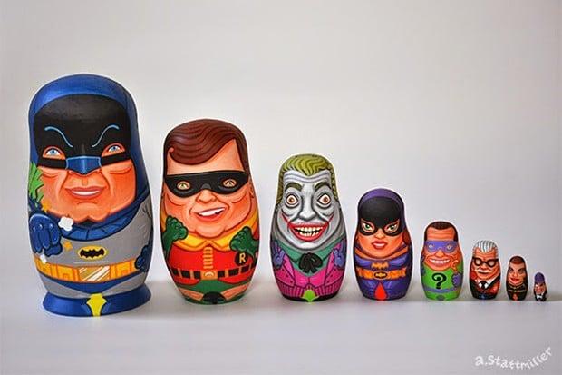 60s_batman_tv_nesting_dolls_by_andy_stattmiller_1