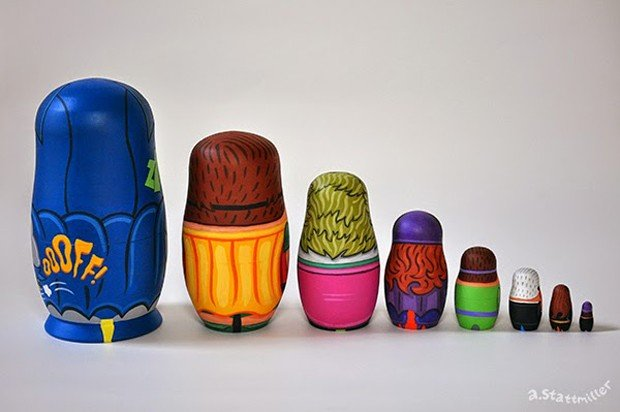 60s_batman_tv_nesting_dolls_by_andy_stattmiller_4