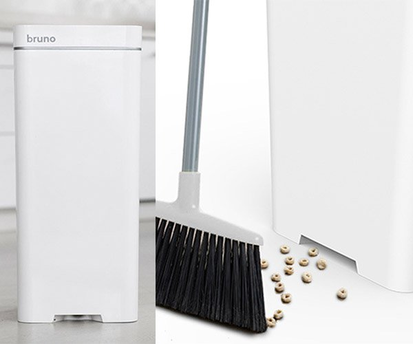 Bruno Trash Can is Also a Vacuum Cleaner: Sweep & Throw