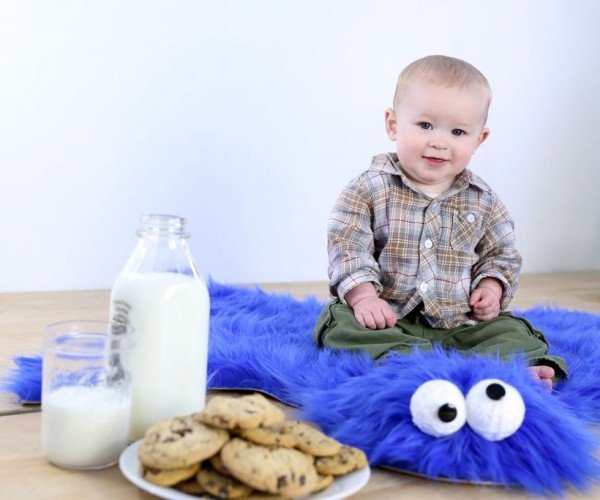 The Cookie Monster Rug: Blue Skin Rug