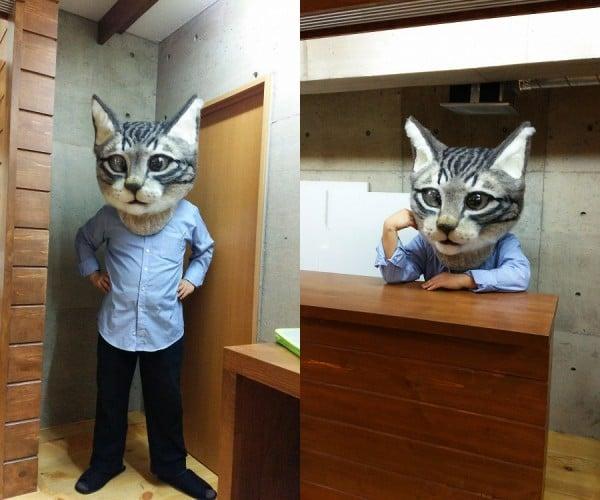 Giant Cat Head Mask: Here Kitty, Kitty…