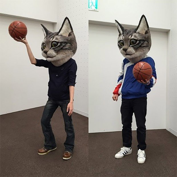Giant Cat Head Mask Here Kitty Kitty Technabob