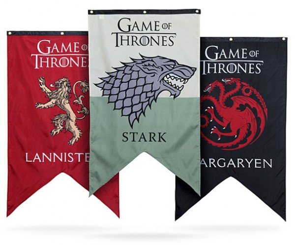 Game of Thrones Banners Declare Your House Allegiance