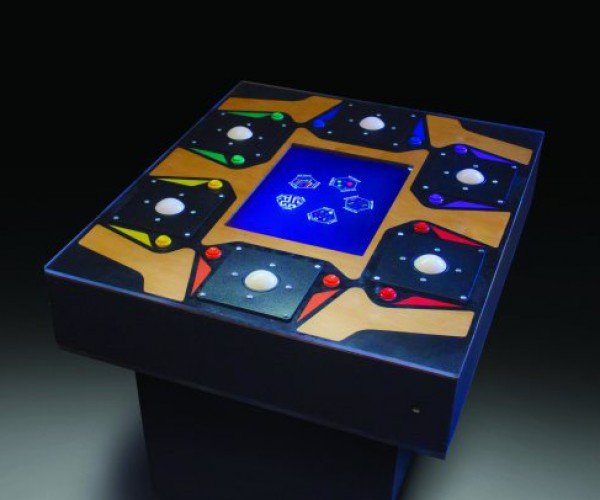 Hexacade Six-Player Video Game Table: Friendship is Multiplayer