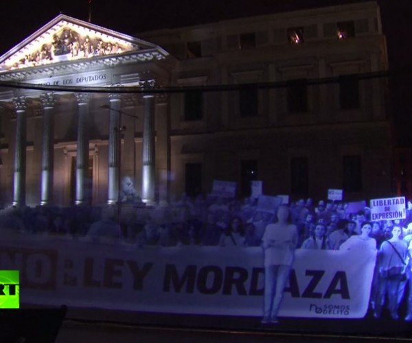 Spanish Activists Use Holograms to Protest Anti-Protest Law: Holograms for Freedom