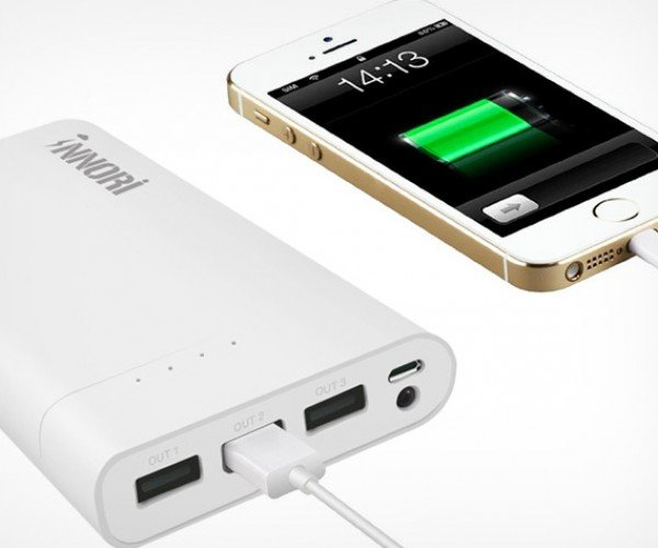 Save 50% off This Triple USB 22400mAh Portable Battery Pack