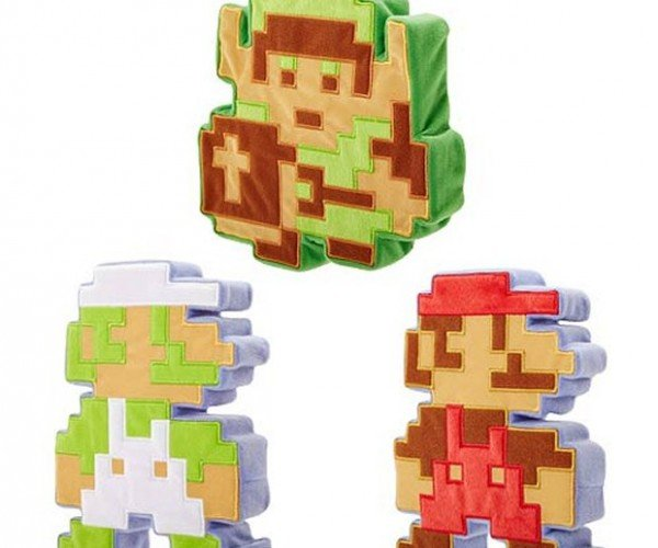 World of Nintendo 8-bit Plush Set: Soft Pixels
