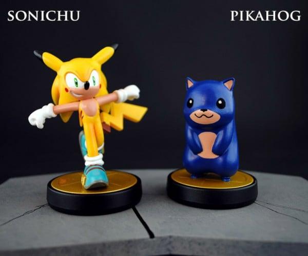 Custom Pikachu & Sonic Crossover Amiibo: Gotta Go Catch 'Em Both