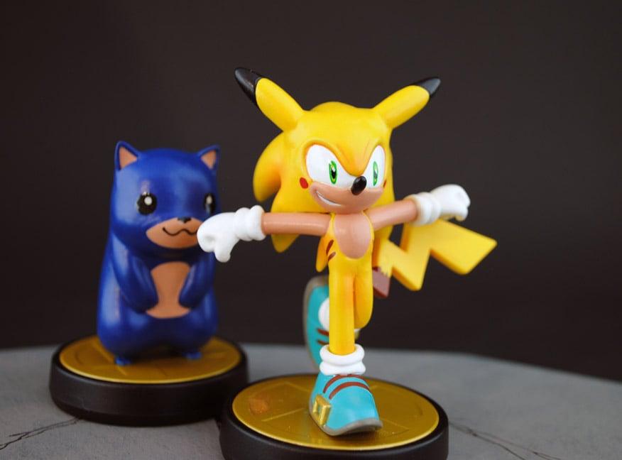 Custom Pikachu Amp Sonic Crossover Amiibo Gotta Go Catch