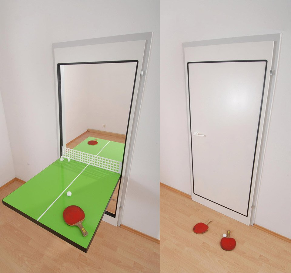 Knock Knock Who S There Ping Pong Door Technabob