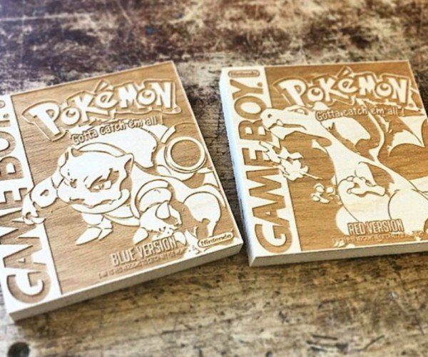 Pokémon Game Boy Box Art Wood Engravings: Pseudowoodo