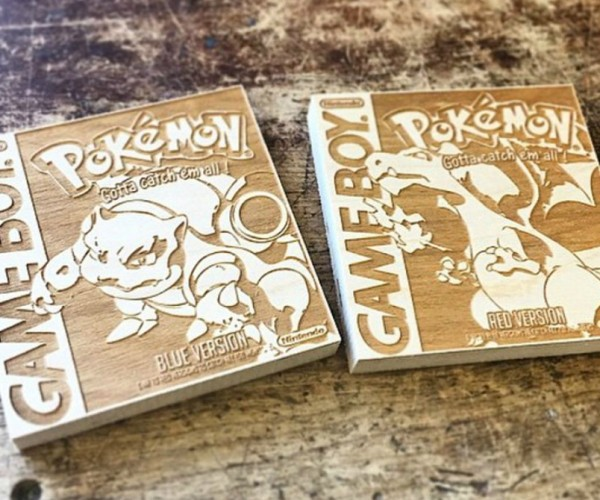 Pokémon Game Boy Box Art Wood Engravings: Pseudowoodo
