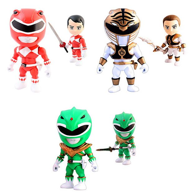 Go go power rangers vinyl action figures technabob power rangers 3 solutioingenieria Gallery