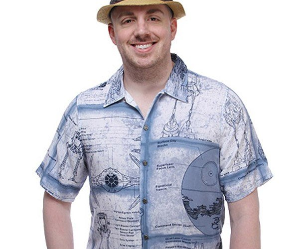 Star Wars Schematics Hawaiian Shirt Is Geeky on More Than One Level