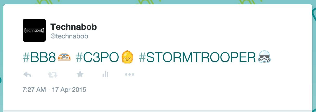 star wars the force awakens twitter emoji technabob