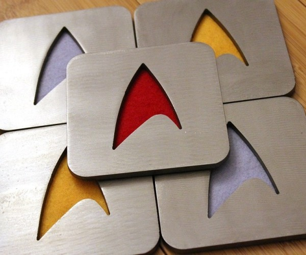 Steel Star Trek Coasters: For Glasses That Live Long and Perspire