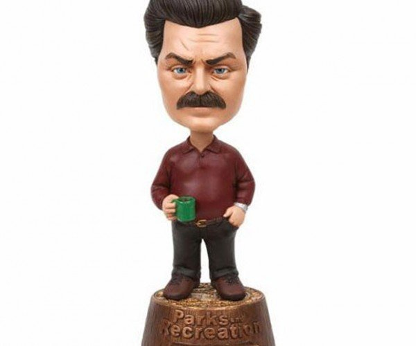Ron Swanson Bobblehead Will Eat All the Bacon