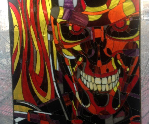 Terminator T-800 Stained Glass: Church of Skynetology