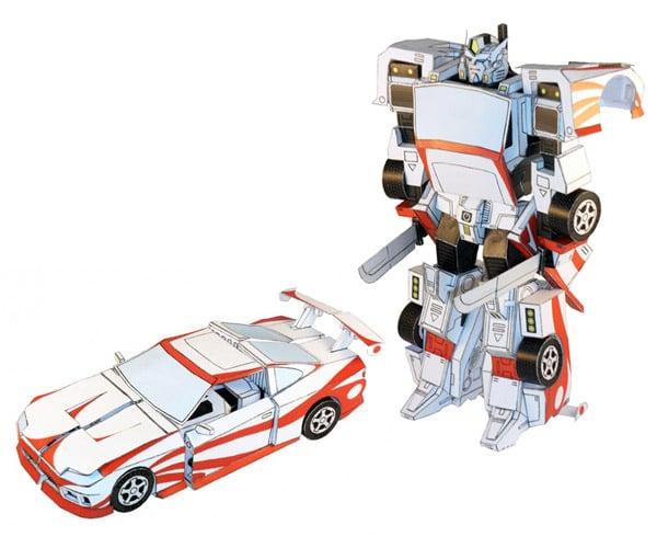 Transforming Papercraft Robots: Fold Out!