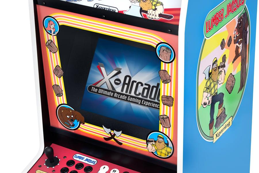 X Arcade Lumber Jacques Arcade Machine Donk It Kong