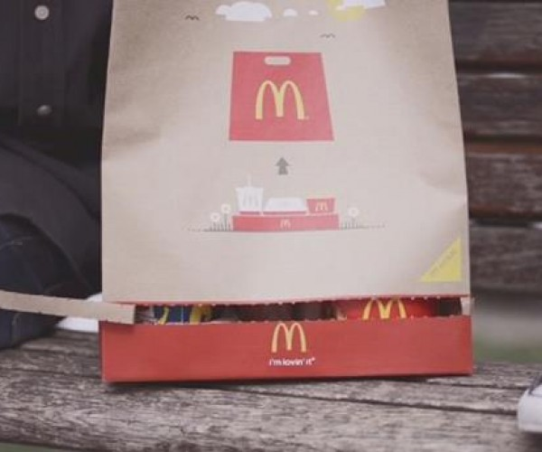 McDonald's Invents a Takeout Bag That Turns into a Serving Tray