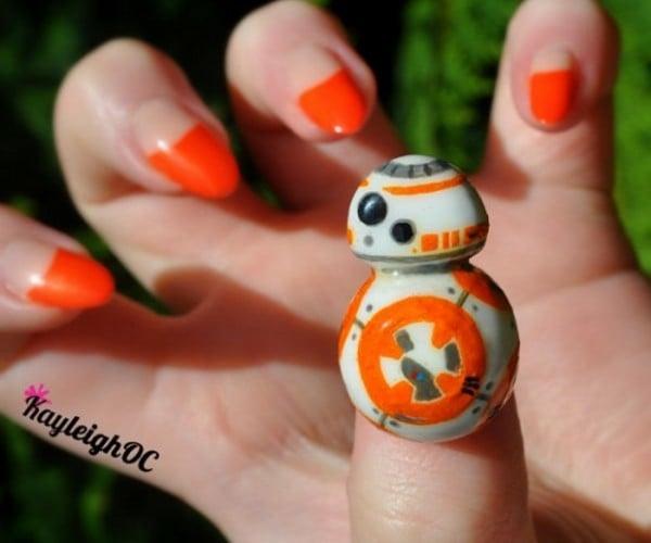 BB-8 Droid Fingernail is Cute-tical